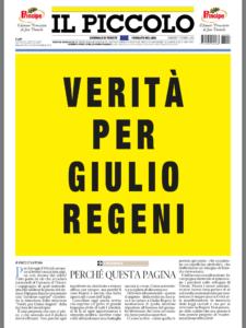 Giulio Regeni, polemiche a Trieste per lo striscione tolto dal municipio