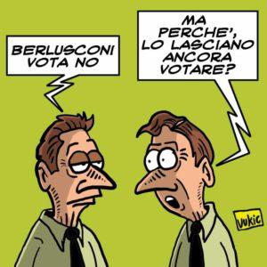 Berlusconi vota no