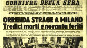 Piazza Fontana, 47 anni fa. Non dimentichiamo la storia di cui siamo figli e nipoti