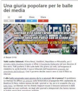 Beppe Grillo, il dito e la luna