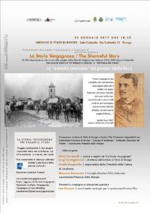 """""""La Storia Vergognosa"""", 20 gennaio. Archivio di Stato di Rovigo"""