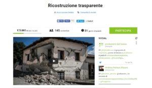 Ricostruzione Trasparente. Un crowdfunding per sostenere la piattaforma sulla ricostruzione dopo i terremoti