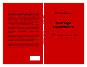 """""""Monologo repubblicano"""" – di Roberto Bertoni"""