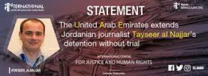 Emirati, in carcere da oltre un anno per aver accusato il governo di non sostenere i palestinesi