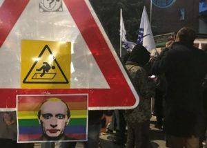 Presidio milanese contro l'omofobia in Russia