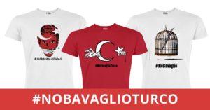 No al bavaglio dei giornalisti in Turchia. Tre T-shirt per la liberazionedegli oltre 150 giornalisti ancora in carcere