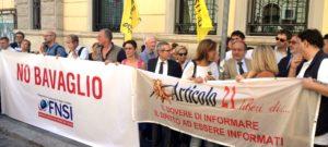 Articolo21 in piazza con Fnsi e Ordine dei Giornalisti