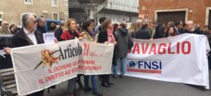 Querele temerarie, Articolo21: aderiamo e rilanciamo iniziativa Fnsi. Il 24 maggio in piazza a Roma. E' nostra battaglia