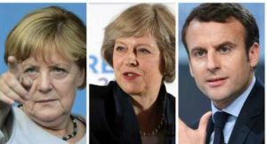 Merkel, May, Macron… Quella politica europea così simile a una partita di calcio…