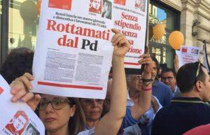 """""""Rottamati dal Pd. Renzi lancia un nuovo giornale e dimentica i lavoratori de l'Unità"""""""