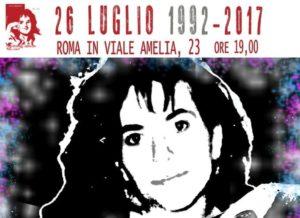 """Rita Atria 26 luglio 1992-2017. """"L'unica speranza è non arrendersi mai"""""""
