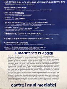 Firmato ad Assisi manifesto contro muri mediatici promosso da Articolo 21 e Rivista San Francesco