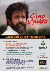 Ciao Mauro! Il 26 settembre a Valderice un'iniziativa per ricordare Mauro Rostagno