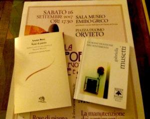 """""""La Poesia può essere civile e sociale?"""" Orvieto, 16 settembre"""