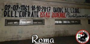 """""""Onore al Leone dell'Eufrate"""". 100 città italiane tappezzate da manifestanti (di Casapound) inneggianti a un criminale di guerra siriano"""