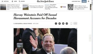 Perché è difficile denunciare da sole. E perché i giornali possono sostenere  le denunce delle donne. L'esempio del New York Times