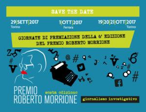 Premio Morrione, 19 -21 ottobre premiazione a Torino