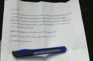 """Minacce a una candidata della lista """"Potere al Popolo"""" in Molise"""
