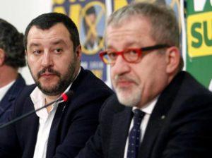 """Spifferi di """"guerra""""tra Maroni e Salvini"""