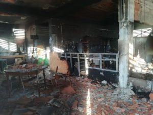 Librino, incendio distrugge sede dei Briganti rugby. Indaga la polizia, struttura dichiarata pericolante