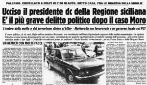 Omicidio Piersanti Mattarella. Quei colpi di pistola senza Giustizia: per non dimenticare!