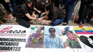 Le penne intrise nel sangue. Tre giornalisti uccisi in Ecuador