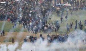 7° venerdì di manifestazioni nella Striscia di Gaza per la grande marcia del ritorno e per la fine dell'assedio