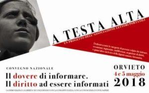 Giornalisti minacciati, Rai e immigrazione. Ad Orvieto un convegno 4 e 5 maggio su presente e futuro dell'informazione