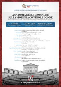 Decostruzione del racconto sul femminicidio. Roma, 18 aprile Teatro Palladium