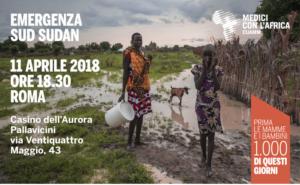 Sud Sudan, l'11 aprile al Casino dell'Aurora Pallavicini si parla della crisi con Cuamm