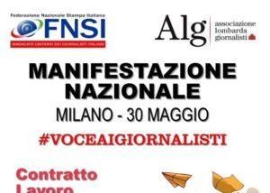 '#VoceAiGiornalisti: basta tagli a occupazione e redditi', il 30 maggio manifestazione nazionale a Milano