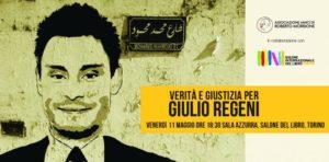 Verità e giustizia per Giulio Regeni: 11 maggio incontro al Salone del Libro