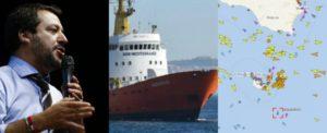 Aquarius, 629 naufraghi a bordo. Governo italiano chiude i porti e respinge la nave