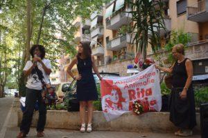 Al presidio romano per ricordare Rita Atria la richiesta della cittadinanza onoraria
