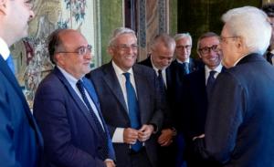Il coordinamento degli enti di categoria dei giornalisti ricevuti dal presidente Mattarella