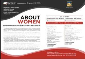 About women: Donne e pari opportunità al Lido