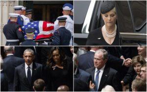 Due Americhe ai funerali di John McCain