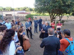 Studenti universitari in visita al Giardino della Memoria di Palermo