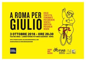 Tributo a Giulio Regeni, dall'Appia al teatro India  popolo giallo rinnova richiesta verità e giustizia
