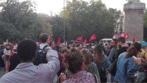 #IoStoConRiace, presidio all'Esquilino in solidarietà con il sindaco Mimmo Lucano