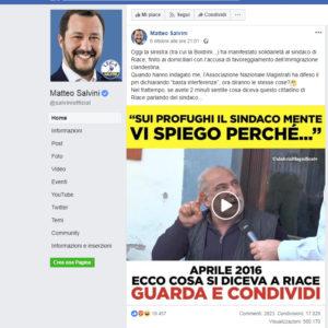 Quando Salvini sbaglia testimonial nella sua campagna contro Mimmo Lucano