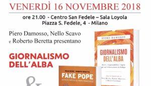 """""""Giornalismo all'alba"""", questa sera presentazione a Milano al Centro San Felice"""