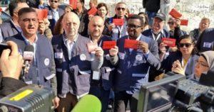 """""""Lacrimogeni contro noi del sindacato internazionale. I giornalisti non sono terroristi"""". Intervista a Raffaele Lorusso, segretario Fnsi"""