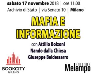 """""""Mafia e informazione"""", l'evento Melampo editore a BookCity. Milano 17 novembre"""
