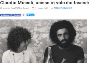 Premiato articolo di Ferruccio Fabrizio pubblicato sul sito di Articolo21