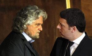 """Renzi e Grillo """"sparano"""" sui vecchi"""