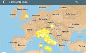 #3annisenzaGiulio, la mappa delle manifestazioni di Amnesty nell'anniversario della scomparsa di Regeni