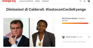 """Insultò l'ex ministra Kyenge chiamandola """"orango"""". Calderoli condannato in primo grado. Articolo21 raccolse 183mila firme su Change.org"""