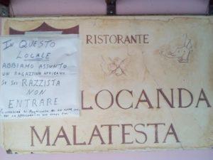 Solidarietà alla locanda boicottata per il pizzaiolo africano – Lettera alla Sindaca di Montescudo