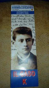 """Sorvegliati e puniti. Primo appuntamento del progetto Il Caso K: """"Il processo' di Franz Kafka, Sala Di Martino Catania"""